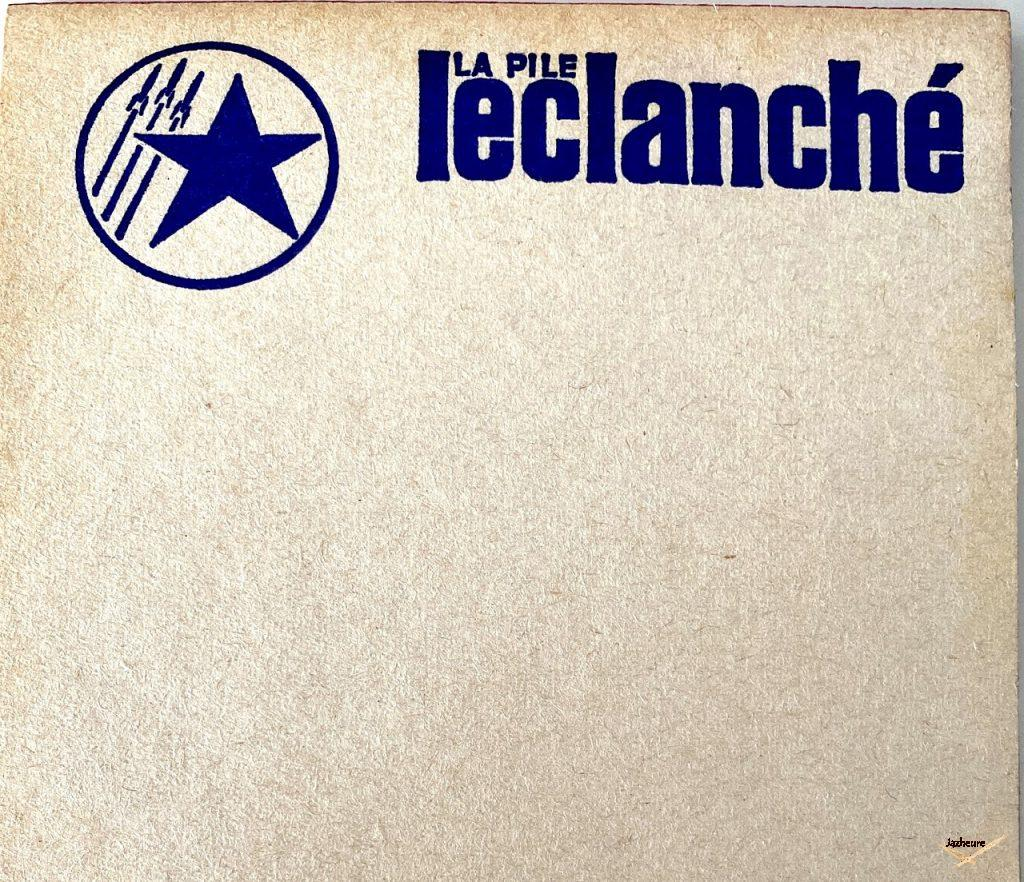 Carnet 20 pages piles Leclanché
