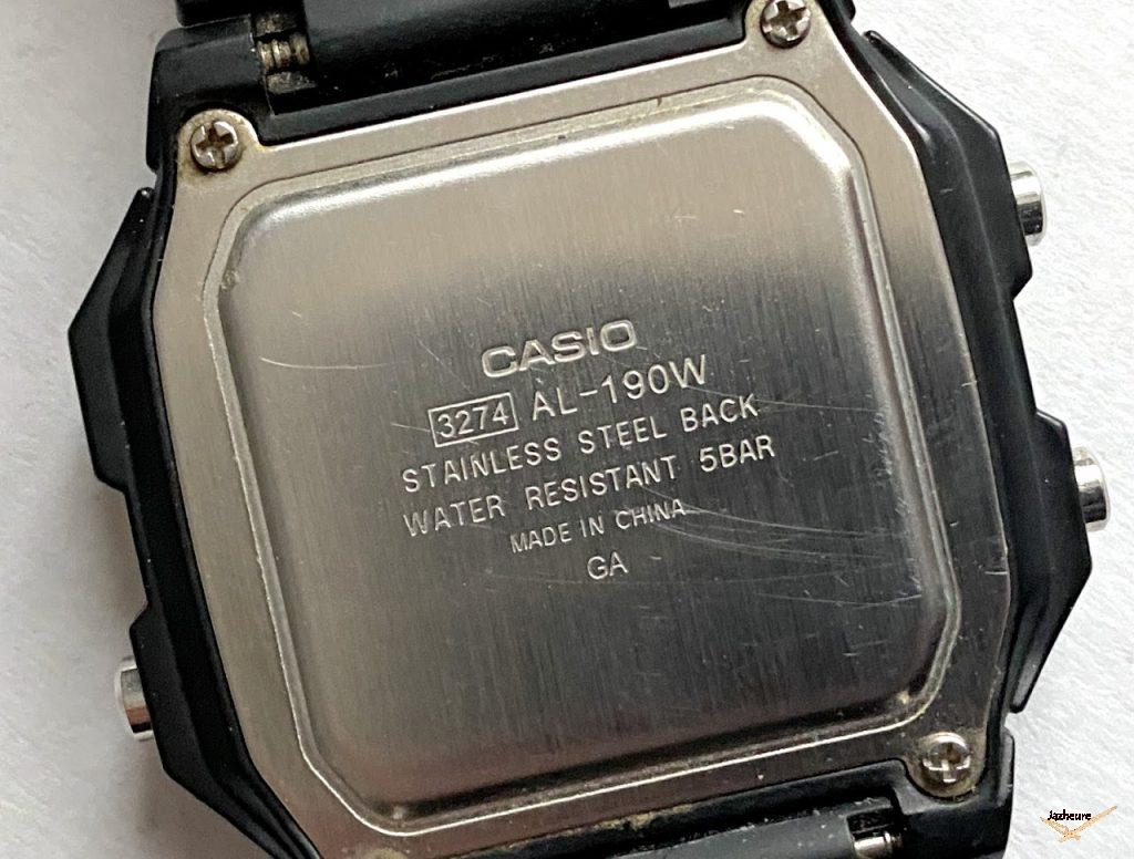 Casio AL 190-W solaire ref. 3274 (2011)