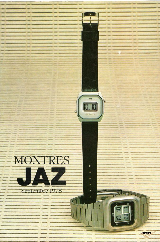 Catalogue Montres Jaz 1978