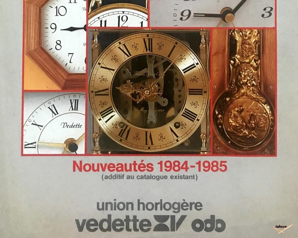 Catalogue Vedette horloges et réveils 1984 et 1985