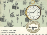 Catalogue horloges Vedette 1965-1966