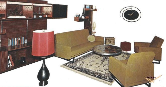Intérieur année 1960 , vintage