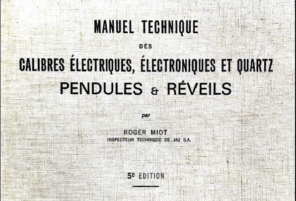 Manuel technique pour pendules et réveils (1979)