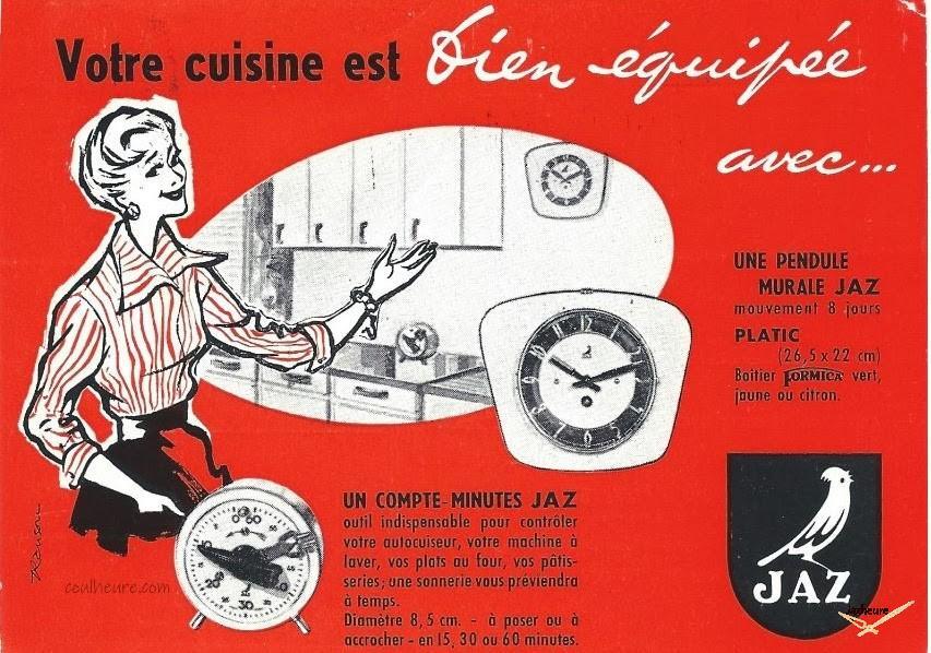 Carte postale Jaz : Avis de passage Jaz 1961