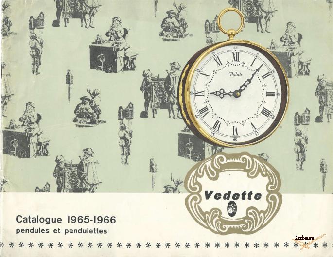 Catalogue Horloges et pendules Vedette 1965