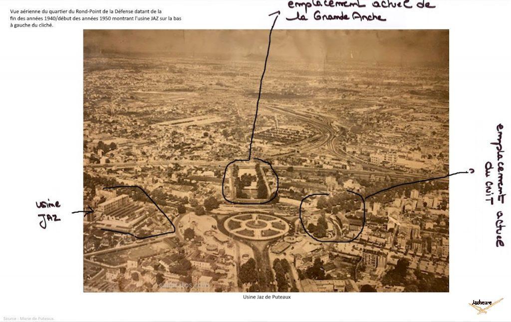 Usine Jaz de Puteaux, dans les années 50 (de nos jours, le quartier de la Défense)