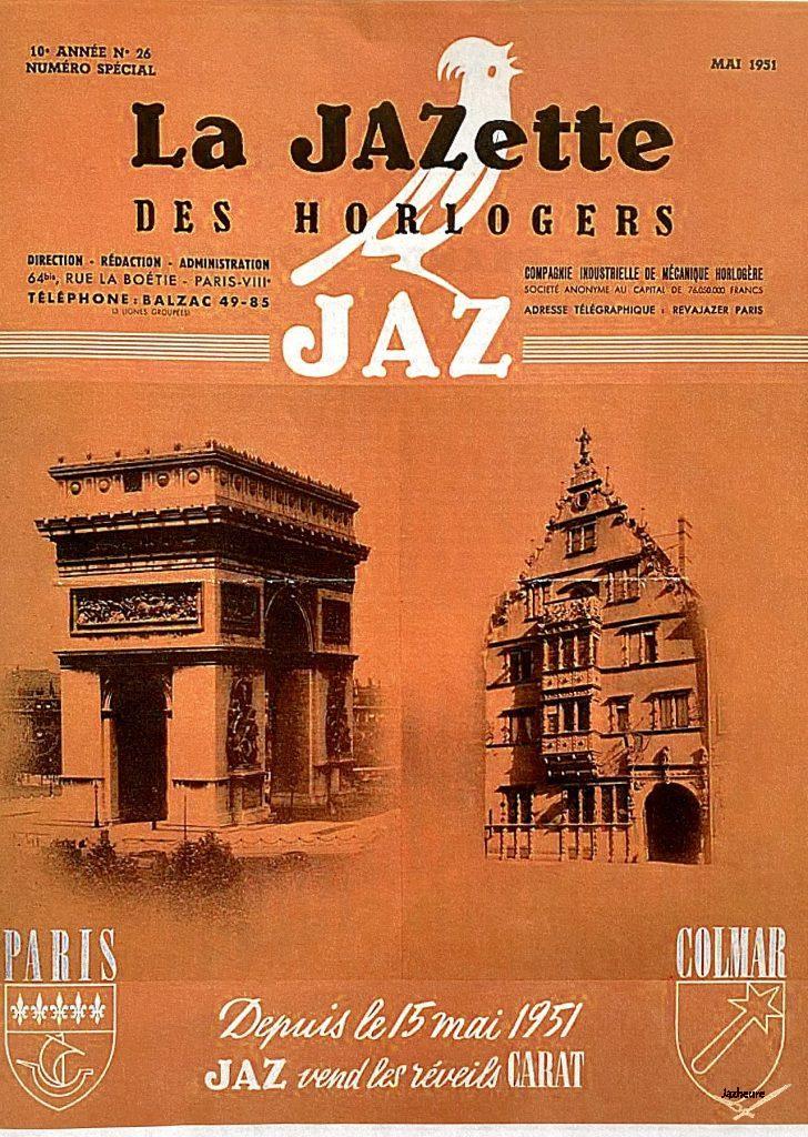 Jazette des horlogers, Jaz, Colmar et Paris