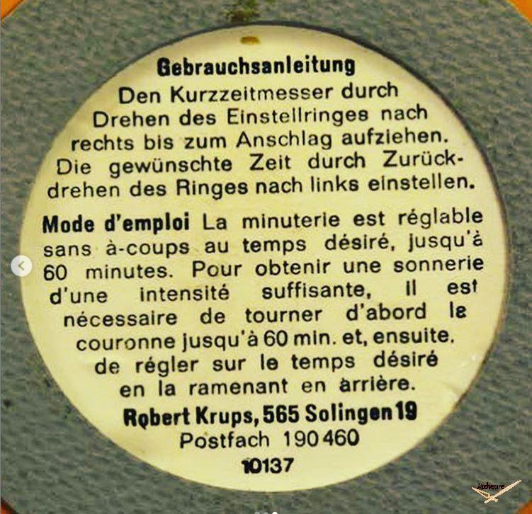 Minuteur KRUPS rouge vintage (1960-1970)