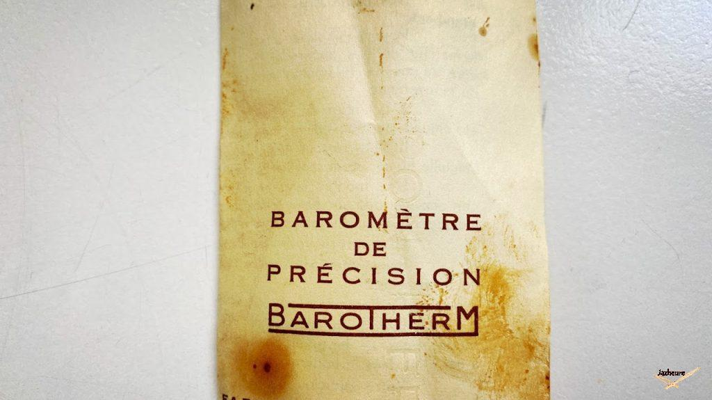 Document du baromètre VARIC (1966-1968)