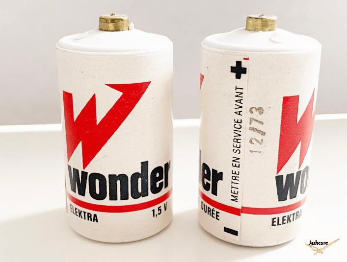 Piles Wonder 1,5V (année 1970)