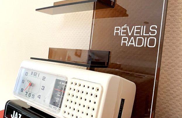 Présentoir publicitaire pour réveils radio Jaz