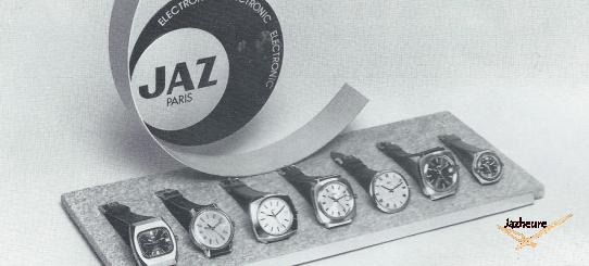 Présentoir montre Jaz page 2 du catalogue 1977