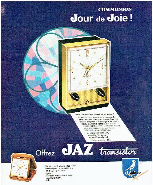 Publicité Horloges et réveils Jaz