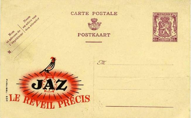 Carte Postale Jaz – Le réveil précis – Publibel vers 1945