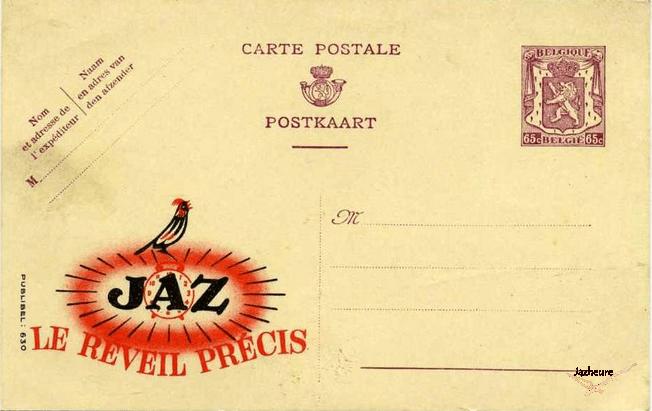 Carte postale Publibel Jaz année 1950