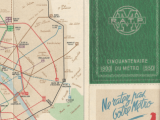Plan de Bus et Métro JAZ pour le cinquantenaire de la RATP 1950
