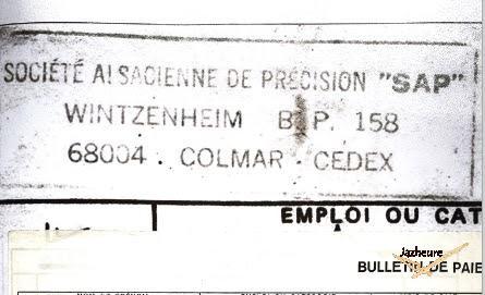 Société Alsacienne de Précision SAP Wintzenheim Travail 1974