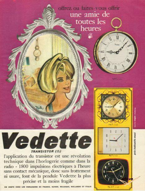 Publicité horloge Vedette