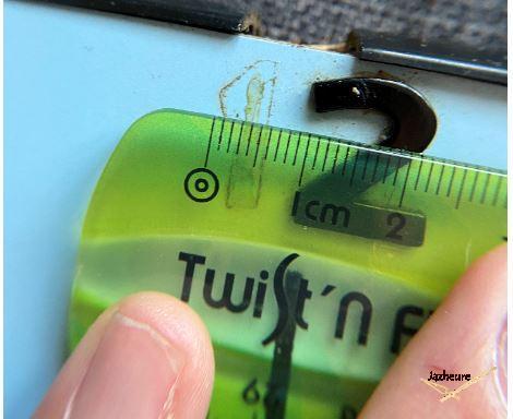 Horloge Jaz TURIC (1963-1965) restauration prise de mesure