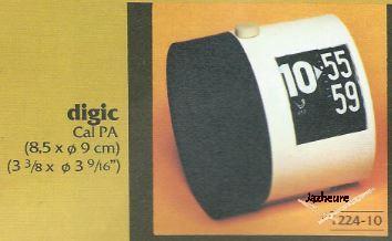 Réveils Jaz DIGIC (1975-1979) Noir