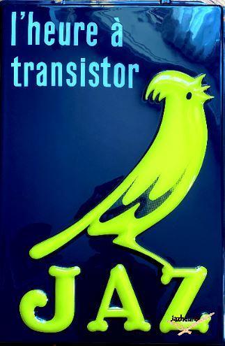 Enseigne Jaz transistor double face (face 1)