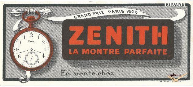 Buvard Zenith Montre