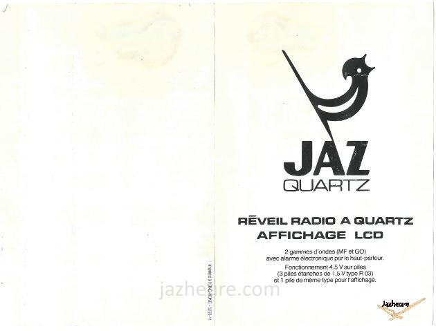 Mode d'emploi Radio réveil FILIC (1981-1982)