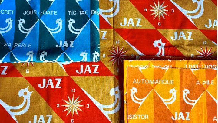 Tissus publicitaires Jaz (année 70)