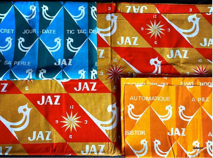 Tissus rétro et publicitaire pour vitrine ou décoration Jaz