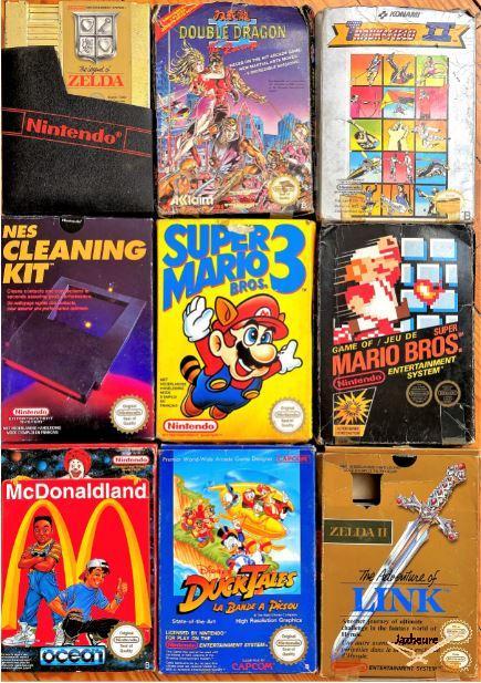 Lot de 8 cartouches Nintendo NES