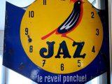 Plaque emaillée Jaz Le réveil ponctuel
