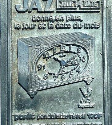 Matrices de tampons pour horloges et réveils Jaz (1970)