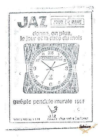Horloge Jaz GUEPIC (1970-1974)
