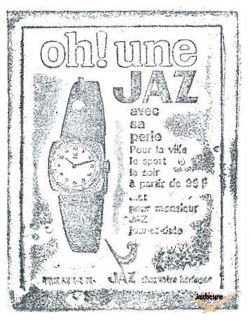 Tampon montre Jaz mécanique D 815 de 1969-1970