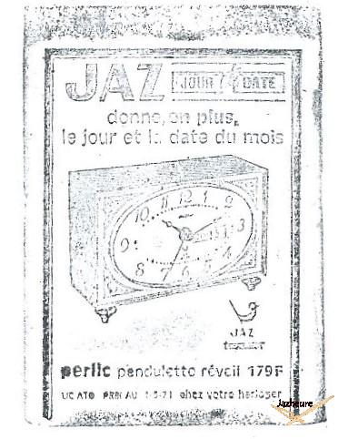 Tompon réveil Jaz PERLIC de 1969-1974