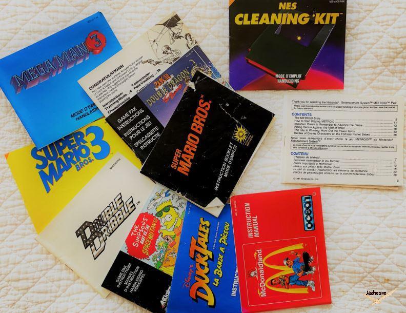 Mode d'emploi Jeux NES Nintendo