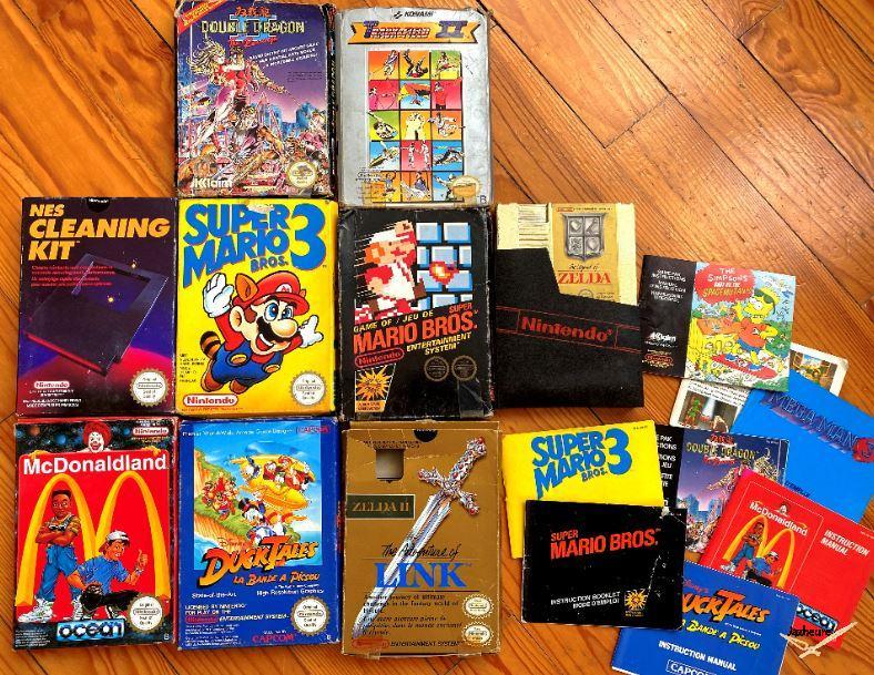 Cartouches Nintendo NES avec boite