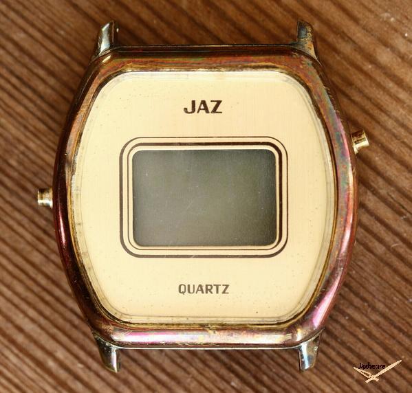Montre Jaz LCD Quartz avant restauration