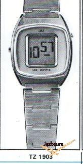 Montre LCD Jaz Quartz TZ-1903 de 1977