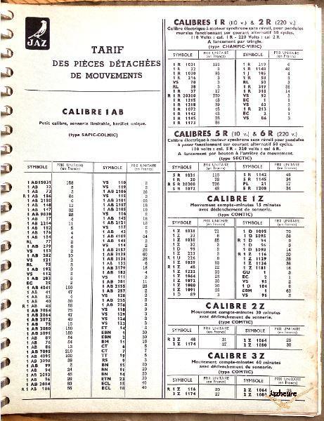 Ancien catalogue le guide Jaz de 1951