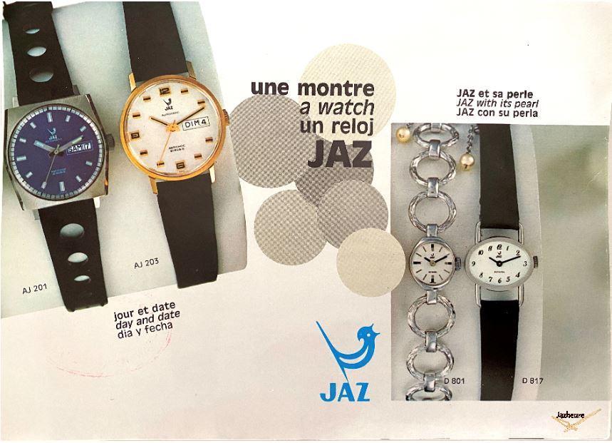 Catalogue, dépliant montres Jaz
