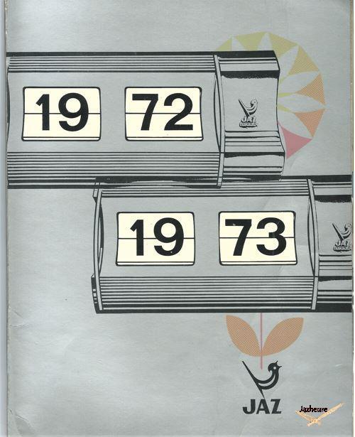 Catalogue Montres (inclus) et Horloges Jaz (1972-1973)